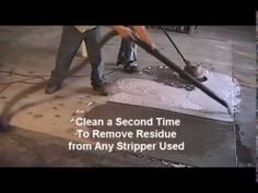 Preparation for Coated Surfaces for Semi-Transparent Concrete Stain - YouTube