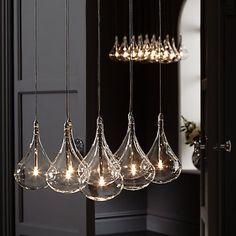 Buy John Lewis Jensen Dangle Cluster Ceiling Lights, x9 Lights Online at…