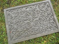 Diy Concrete Pavers Use Rubber Door Mat To Create Design