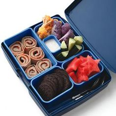PBJ rollups with cookies and fruits...