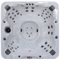 American Spas Premium Acrylic Bench Spa Hot Tub with Bluetooth Stereo System, Subwoofer and Backlit LED - The Home Depot
