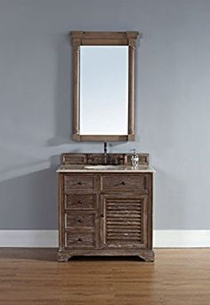 "James Martin Furniture 238-104-5511 Savannah Collection 36"" Single Vanity, Choose Finish: No Vanity Top, Vanity Top Thickness: Top Not Included"