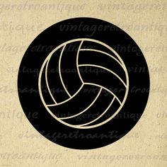 Volleyball Graphic Image Download Sports by VintageRetroAntique