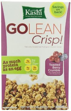 Kashi GOLEAN Crisp! Cereal, Toasted Berry Crumble, 14 Ounce from Kashi - Two Fit Ladies Shop