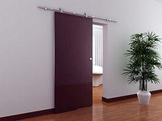6 Ft Modern Stainless Steel Interior Sliding Barn Wooden Door Hardware Track Set