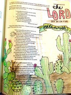 Jeremiah The Lord led us Wilderness Bible Journaling Bible Art Scripture Art, Bible Art, Bible Verses, Jeremiah 2, Faith Bible, Bible Prayers, Illustrated Faith, Bible Journal, Bible Studies