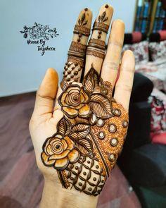 Simple Arabic Mehndi Designs, Indian Mehndi Designs, Mehndi Designs Book, Beautiful Mehndi Design, Mehndi Designs For Hands, Mehandi Designs, Simple Designs, Indian Aesthetic, Mehndi Ceremony
