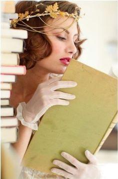 I want that headpiece. I Love Books, Good Books, My Books, Woman Reading, Love Reading, Reading Time, Reading Books, Mane Event, Make Her Smile