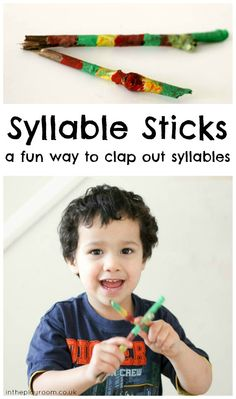 Syllable sticks a fun way to clap out syllables, and a great way to use up all those sticks that the kids have collected!