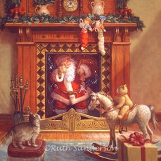 Up The Chimney He Rose  (artist Ruth Sanderson)