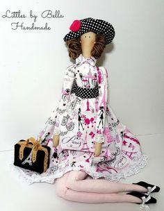 Tilda textile doll handmade Paris doll rag doll by littlesbyBella ♡