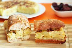Bocadillo de tortilla española. ¡¡My host mom has the best receta!!