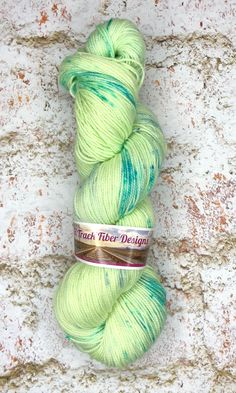 The Other Side - on AliBash 2 Ply Fingering/sock yarn #greenyarn #springvibes #springyarn #speckledyarn