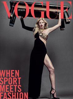 Vogue Italia August 2016 Lara Stone by Steven Klein