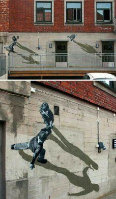 wall art, 3d street art, street artists, optical illusions, mural art, shadow, wall murals, art walls, streetart