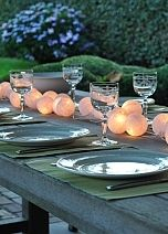 Lovely way to decorate the table