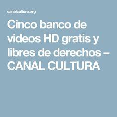 Cinco banco de videos HD gratis y libres de derechos – CANAL CULTURA