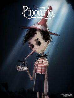 Andrew Tarusov - Illustration, Pin-Ups & Animation | What if Tim Burton directed all Disney c