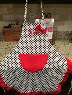 Personalized Christmas Apron Adult size by LesliesCreations82