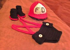 Firefighters Hat, Diaper Cover and Boots/Pattern Purchase from Expert Craftss