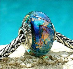 TEAL GLITTERIZE OPAL Fully Lined Sterling Silver by beachlifebeads, $45.00