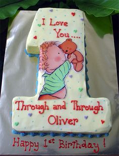 I love you through and through no.1 Cake ~ based on the book of the same title