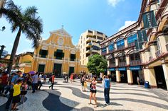 Macau's historic Senado Square has an abundance of shops and restaurants. Surrounded by beautiful architecture it is the perfect place to sight-see, shop, and dine!