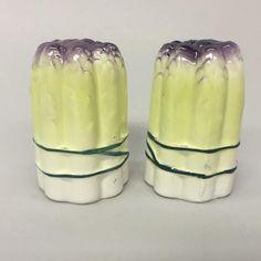 Holt Howard Aspargus Porcelain Salt Pepper Shakers Mid Century Kitchen | eBay