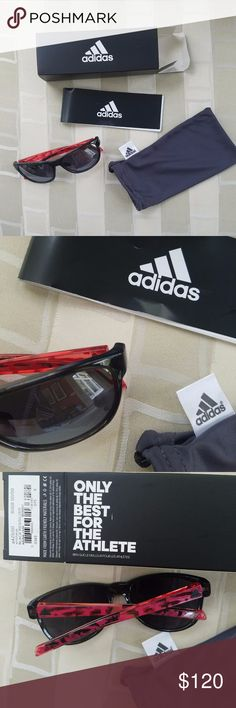 Adidas Eyewear Wildcharge A425 6068 NIB No OFFERS Authentic. The Wildcharge sunglasses blur the line between sport and lifestyle with a lightweight and robust frame, adjustable nose pads and performance lenses. SPX + Flex Zones, Quick-Release Hinge, Traction Grip, wrap around frame, anti-fog, stable and pressure-free fit, smoke free home, no trades or transactions outside of Poshmark, see all photos as they are part of the item description, ask all questions prior to purchase. Unisex. adidas…
