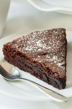Gluten Free Kladdkaka is made with whole grains. Incredibly delicious.
