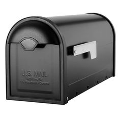 Architectural Mailboxes 6.6-in X 8.8-in Metal Black Post Mount Mailbox 8830b-10