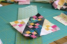 Jacob's Ladder Block - Blue Elephant Stiches blog has a 3 part tutorial for a quilt using this block