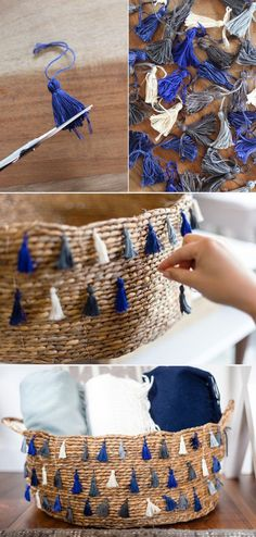 DIY Crafts   Image   Description  DIY tassel basket