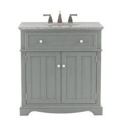 Home Decorators Collection Fremont 32 in. Vanity in Grey with Granite Vanity Top in Grey with White Basin 2943800270 at The Home Depot - Mobile