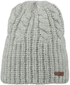 The Barts Lornell beanie is made from a warm wool blend and features a classic cable knit pattern.