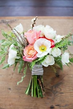 Bouquet Inspiration: Pretty bouquet with pink and ivory | Inspired by This Simple Winter Wedding Shoot by Sunshine & Confetti + Life in Bloom Photography - Lover.ly