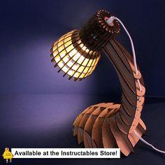 Initiales GG ... : DIY : une lampe design en carton!