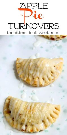 Homemade buttery pie crust filled with a delicious simple apple compote makes these apple pie turnovers a new family favorite! the bitter side of sweet appleweek sponsored apples dessert apple pie moonshine fall cocktail recipe apple moonshine homemade Healthy Apple Desserts, Apple Dessert Recipes, Delicious Desserts, Apple Deserts, Fall Desserts, Recipes Dinner, Breakfast Recipes, Apple Turnover Recipe, Turnover Recipes