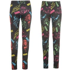 Legíny Character Printed Leggings Ladies Marvel