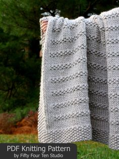 The Stones in the Road Blanket KNITTING PATTERN is easy to knit with super bulky weight yarn and big needles. Pattern includes directions for FIVE sizes: Approximate sizes after blocking. = XL: wide x 58 long = Large: wide x long = Medium: wide x Knitting Terms, Knitting For Charity, Circular Knitting Needles, Easy Knitting, Knitted Throw Patterns, Knitted Afghans, Knitted Blankets, Knitting Patterns, Knitting Projects