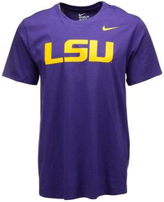 Accentuate any casual outfit or game day attire with this Nike NCAA Wordmark t-shirt. This tee features LSU Tigers graphics in bold letters to show your support in the most straightforward way. Crew neckline Short sleeves Screen print team wordmark at front Screen print Nike swoosh logo at front Regular fit Tagless Cotton Machine washable