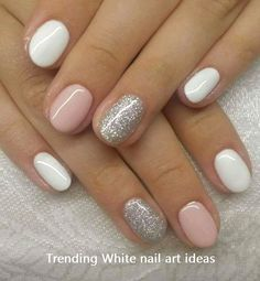 Amazing glitter nail art designs that you can own 04 Schellackn ร . - Amazing glitter nail art designs that you can own 04 Schellackn gel – own - Gel Nail Designs, White Nail Designs, Nails Design, Short Nail Designs, Nail Design For Short Nails, Classy Nail Designs, Pedicure Designs, Pretty Nail Designs, Colorful Nail Designs