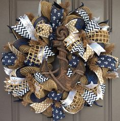 Custom anchor wedding centerpiece nautical wedding decor
