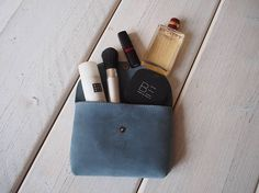 Leather Make up bag Leather Makeup Bag Cosmetic bag Leather