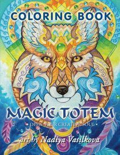 Magic Totem Coloring Book For Grown Ups Adult Beautiful Decorative Animals Birds Flowers