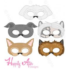 Toy Dog Breeds Printable Masks