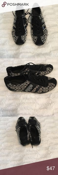 Black and gray coach shoes Coach shoes in good condition!!!! Coach Shoes Sneakers