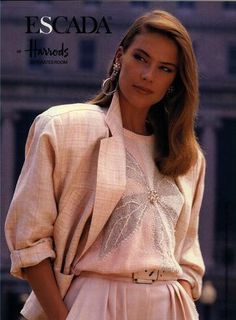 Escada - March 1985. Big shoulder pads and boxy jackets- what a look
