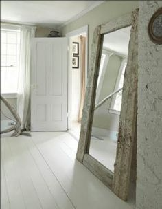 I would gladly take that mirror & those floors!