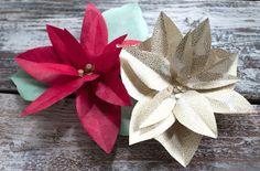 Diy paper poinsettia free template christmas crafts pinterest beautiful poinsettia paper flowers mightylinksfo